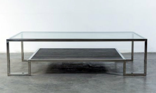 TETRIS COFFEETABLE WITH STAINLESS STEEL BASE