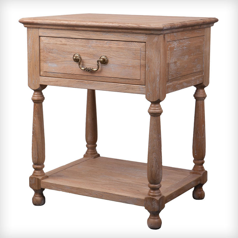 Coastal Beach --Oak bedside table