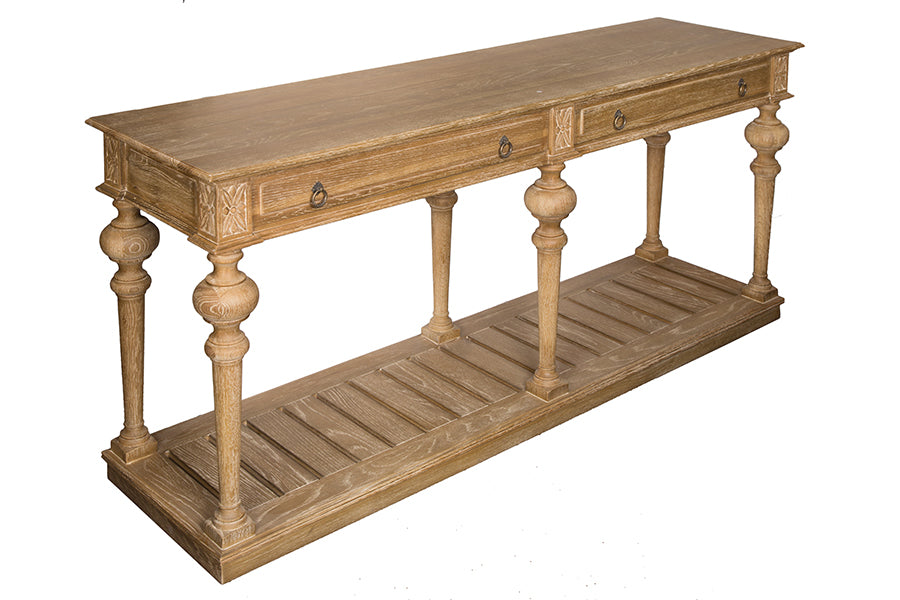 French Country Style OAK Console Table Homeabout - French country style console table