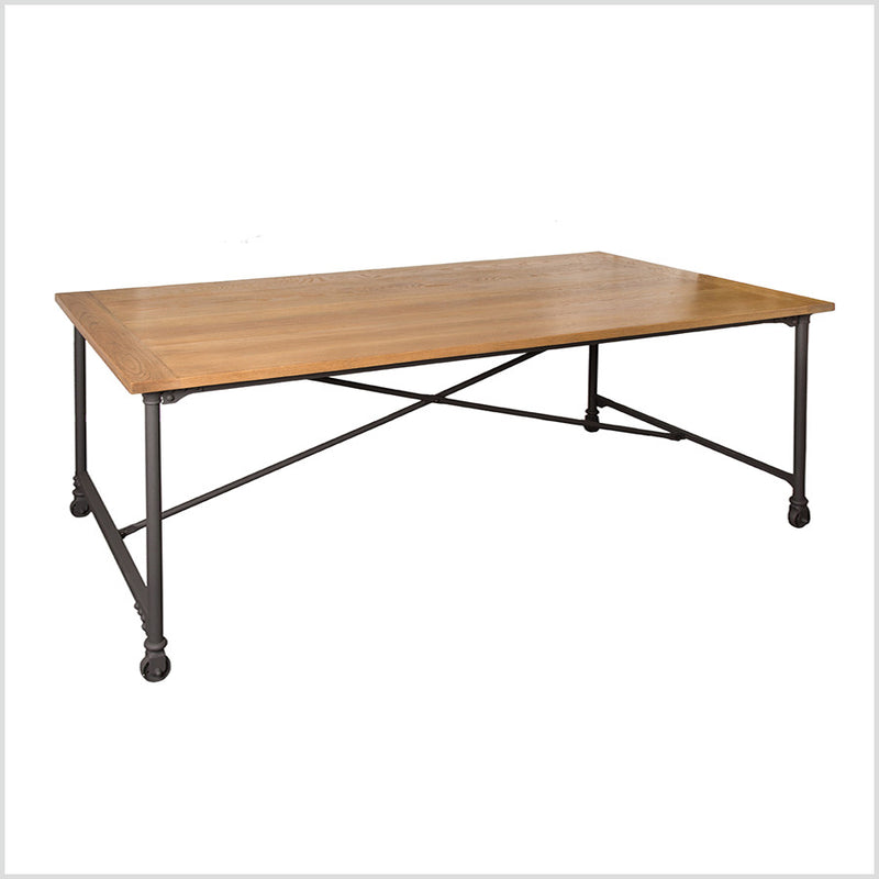 Industrial Loft Oak Top Dining Table