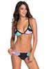 Candy Color-Block Triangular Cheeky Scrunch Butt Bikini