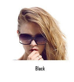 Big Frame Square Sunglasses Black