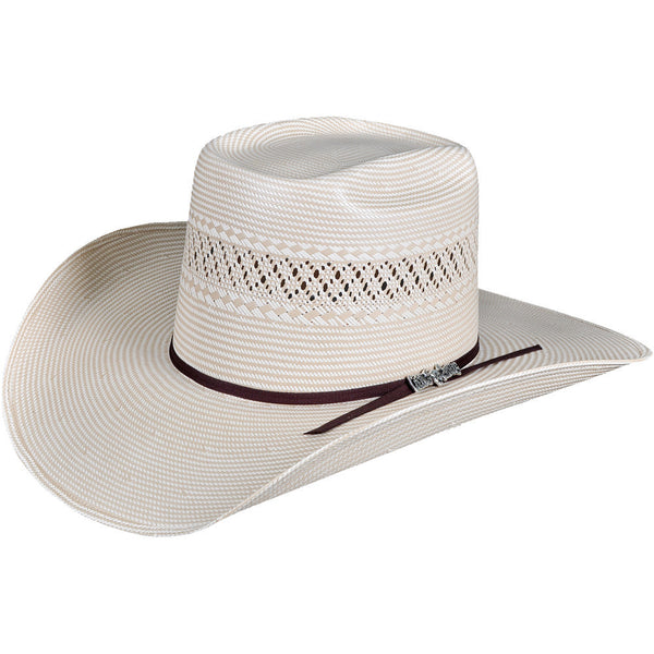 c889d12caf Cuernos Chuecos Two Tone Brick Crown Cowboy Hat