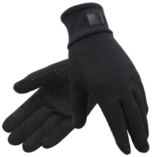 Andorra Men's Hyper Tech Touchscreen Mittens - Black/Red