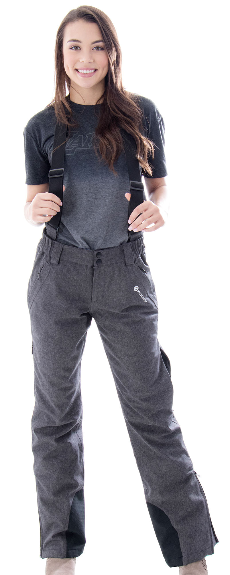 Andorra Women's Performance Insulated Cargo Ski Pants - Grey