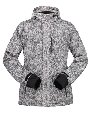 Andorra Men's Performance Insulated Ski Jacket with Zip-Off Hood - Binary Heather
