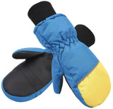 Andorra Kids' Colorblock Mittens - Yellow