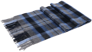 ANDORRA Men's Winter Cashmere Scarf - Blue Print