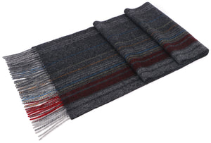 ANDORRA Men's Winter Cashmere Scarf - Bohemian Grey