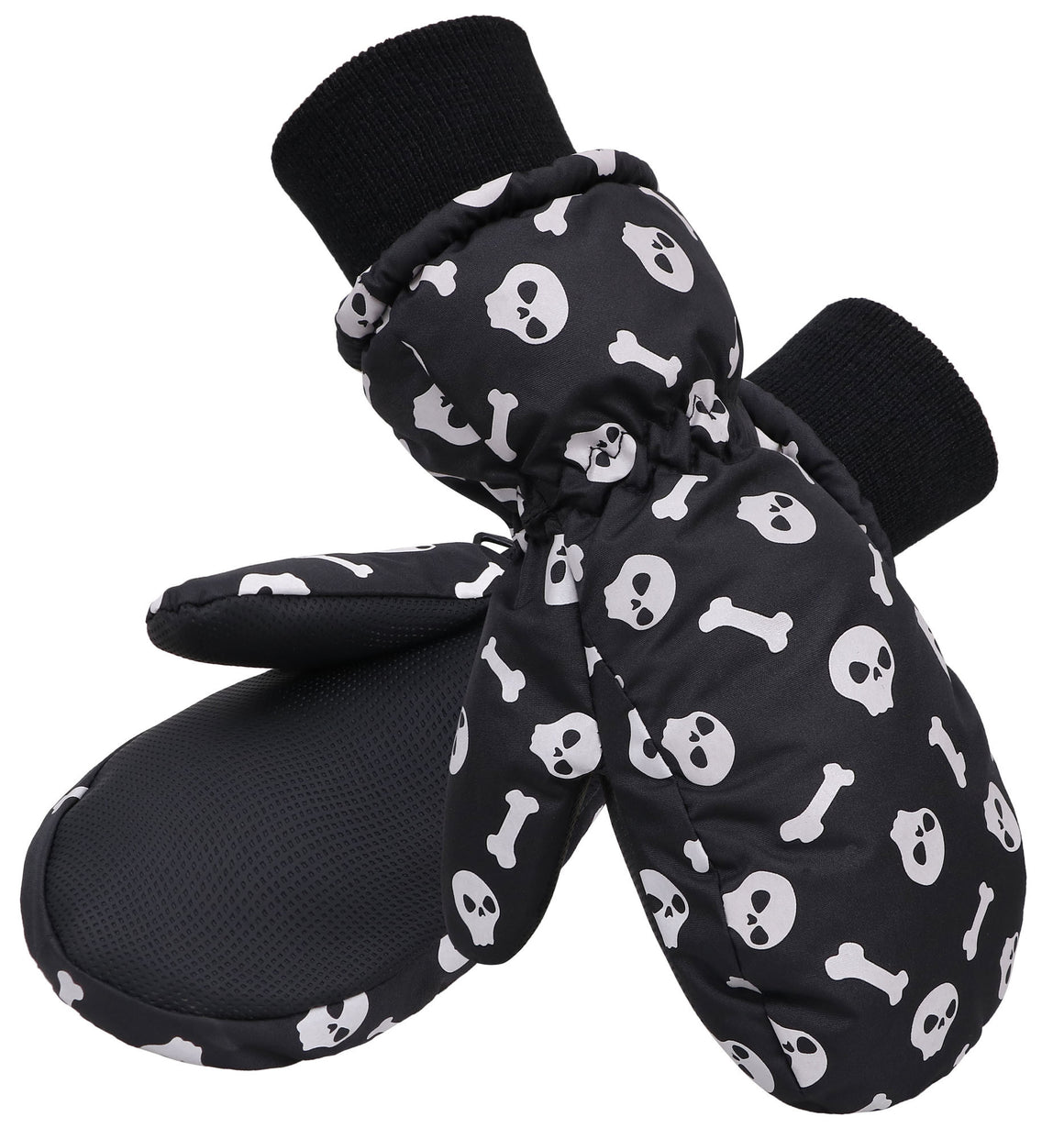 Andorra Kids' Glow-In-The-Dark Skull Mittens