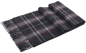ANDORRA Men's Winter Cashmere Scarf - Burgundy Hue