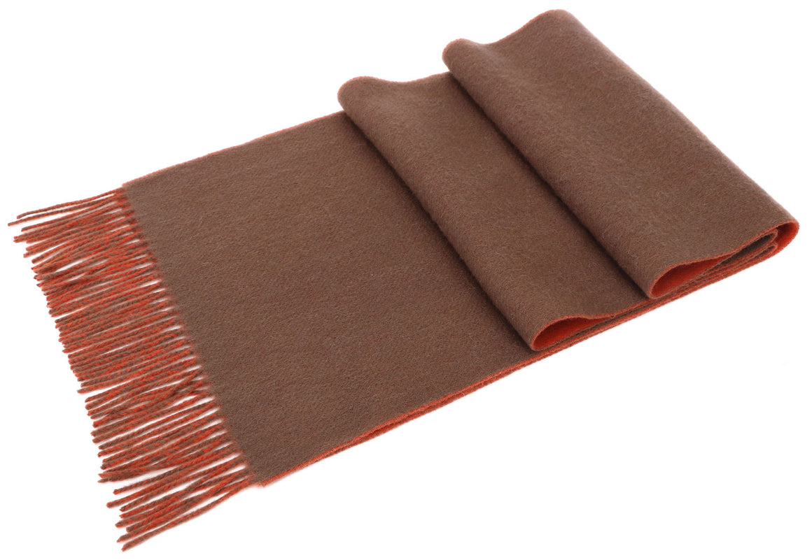 ANDORRA Men's Winter Cashmere Scarf - Cinnamon