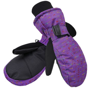 Andorra Kid's Night Galaxy Mittens - Limited Edition 3 Purple