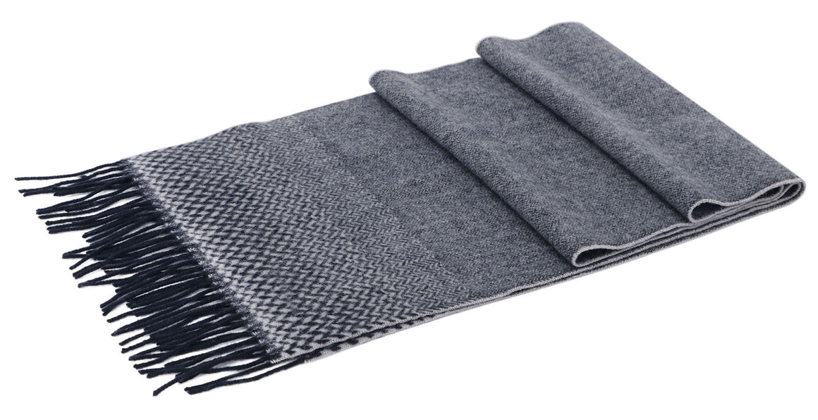 ANDORRA Men's Winter Cashmere Scarf - Ombre Weave