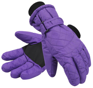 Andorra Women's Classic Quilted Glove - Black