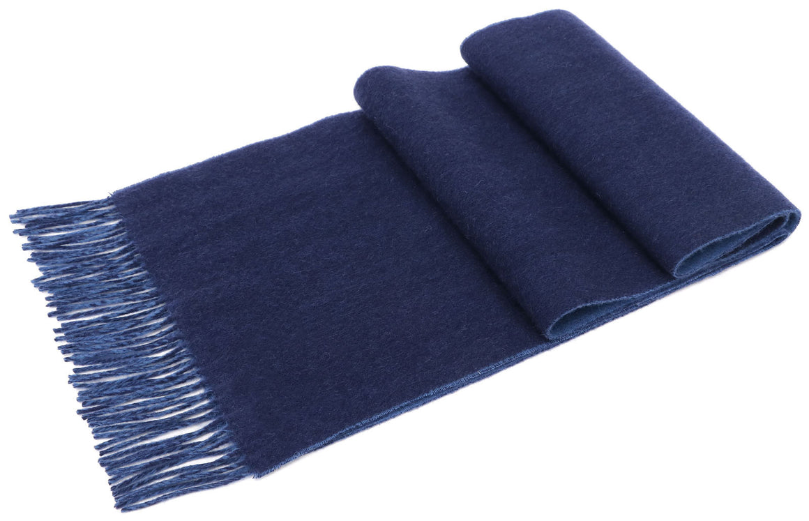 ANDORRA Men's Winter Cashmere Scarf - Blue Royalty