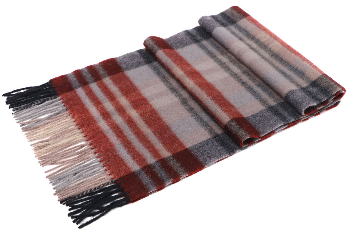 ANDORRA Men's Winter Cashmere Scarf - Sunny Red
