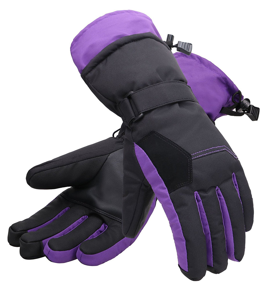 Andorra Women's Two-Tone Geometric Touchscreen Ski Glove - Lavender