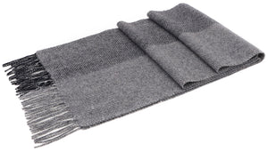 ANDORRA Men's Winter Cashmere Scarf - Two Tone Grey