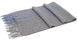 ANDORRA Men's Winter Cashmere Scarf - Two Tone Sky