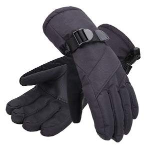 Andorra Men's Abstract Deluxe Touchscreen Sport Ski Gloves - Black