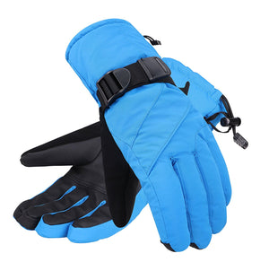 Andorra Men's Abstract Deluxe Touchscreen Sport Ski Gloves - Blue
