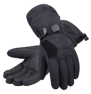 Andorra Men's Abstract Deluxe Touchscreen Sport Ski Gloves - Black 2