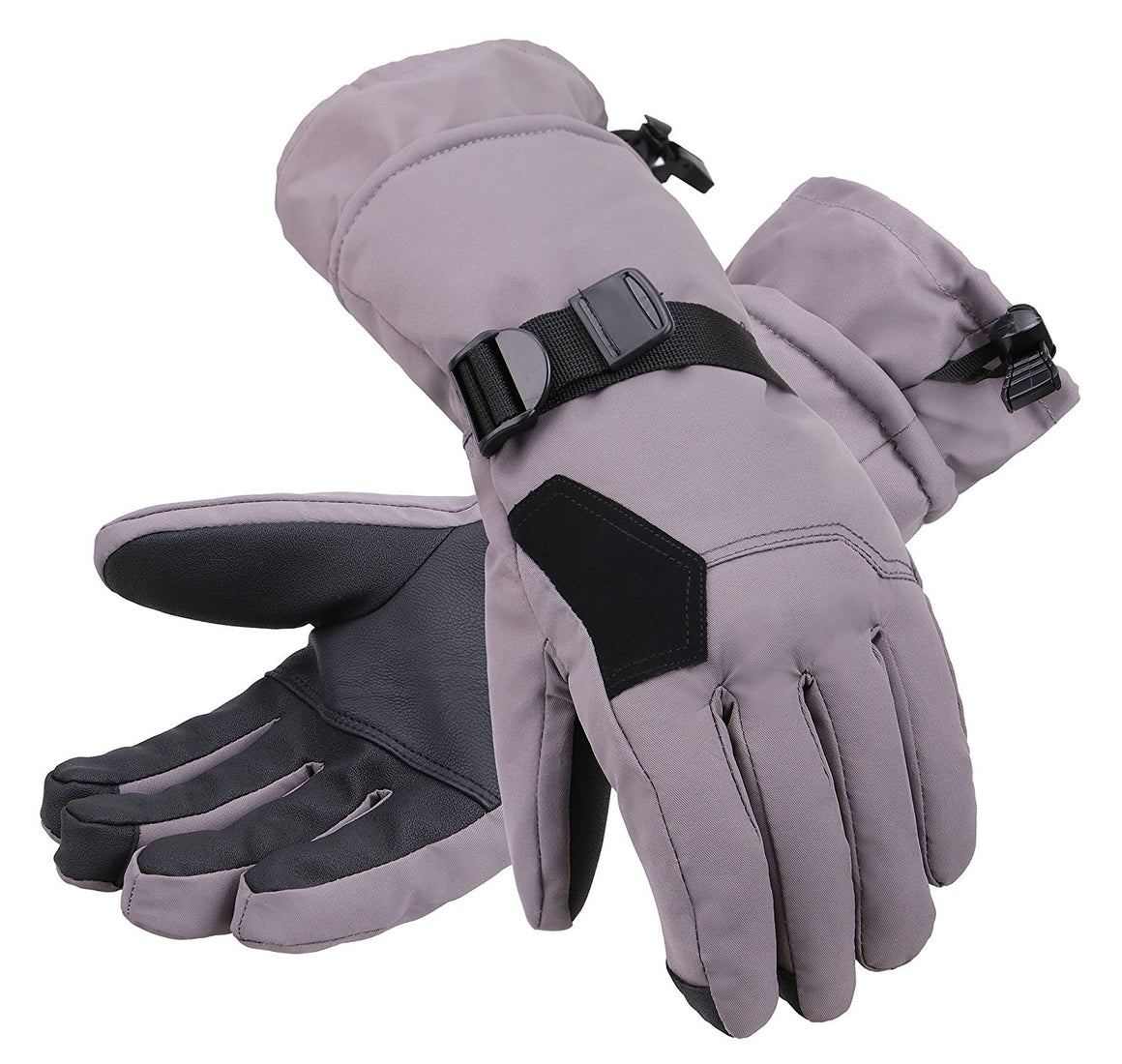 Andorra Men's Abstract Deluxe Touchscreen Sport Ski Gloves - Grey