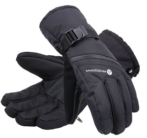 Andorra Men's Cross Country Touchscreen Glove w/ Zipper Pocket - Black