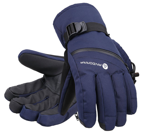 Andorra Men's Cross Country Touchscreen Glove w/ Zipper Pocket - Navy