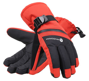 Andorra Men's Cross Country Touchscreen Glove w/ Zipper Pocket - Red
