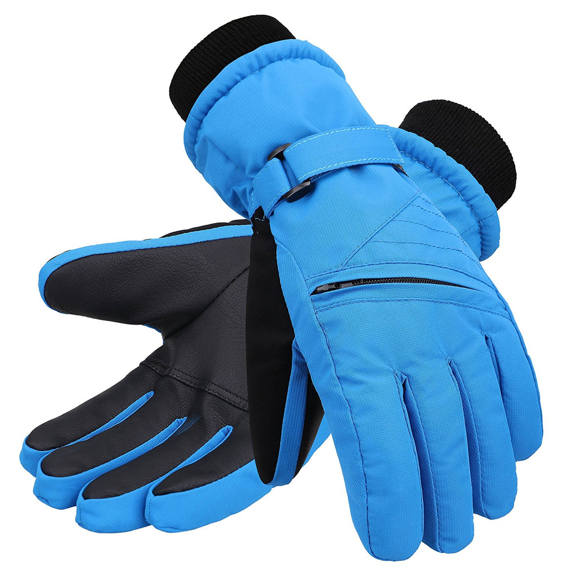 Andorra Kid?????s Zippered Pocket Ski & Snowboarding Gloves - Royal