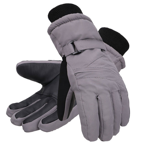 Andorra Kid?€?s Zippered Pocket Ski & Snowboarding Gloves - Grey