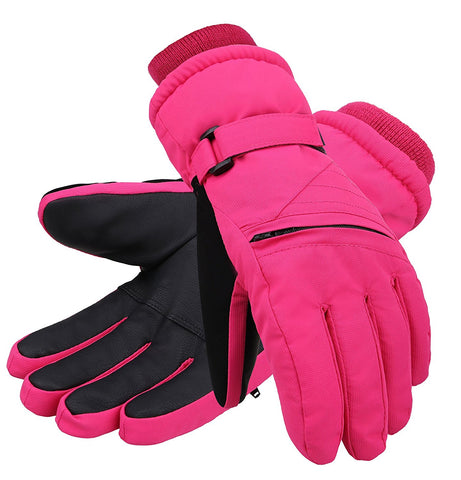 Andorra Kid?€?s Zippered Pocket Ski & Snowboarding Gloves - Pink