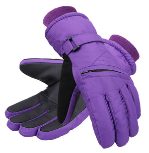 Andorra Kid?????s Zippered Pocket Ski & Snowboarding Gloves - Purple