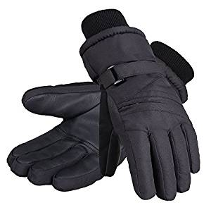 Andorra Kid?????s Zippered Pocket Ski & Snowboarding Gloves - Black