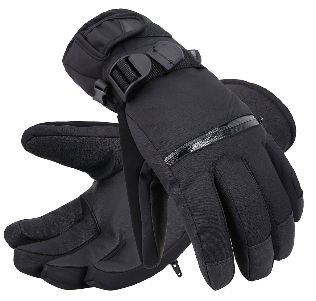 04e27355001f6 Andorra Men's Touchscreen Winter Sports Gloves w/ Zippered Pocket - Bl