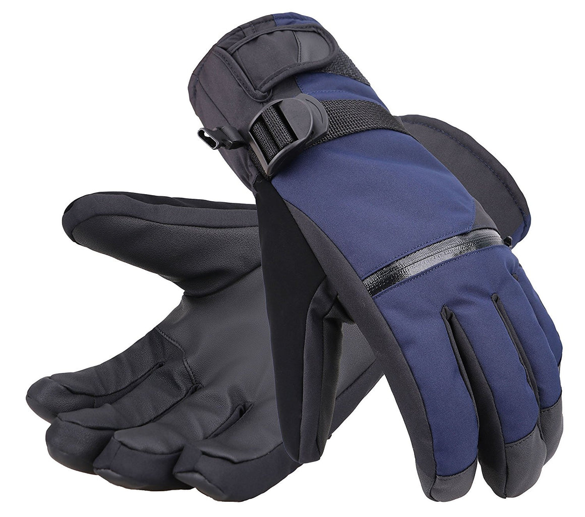 Andorra Men's Touchscreen Winter Sports Gloves w/ Zippered Pocket - Navy
