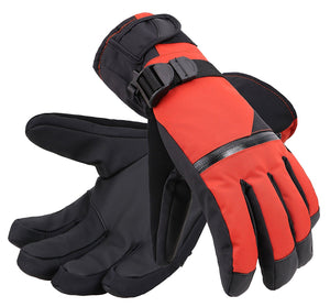 Andorra Men's Touchscreen Winter Sports Gloves w/ Zippered Pocket - Orange