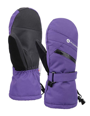 Andorra Women's Touchscreen Ski & Snowboarding Mitten w/ Pocket - Purple