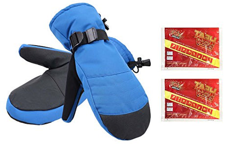Men's Alpine Ski Mittens with Handwarmer Pocket - Royal Blue