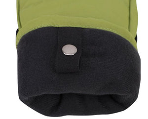Men's Alpine Ski Mittens with Handwarmer Pocket - Moss Green