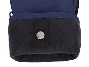 Men's Alpine Ski Mittens with Handwarmer Pocket - Navy