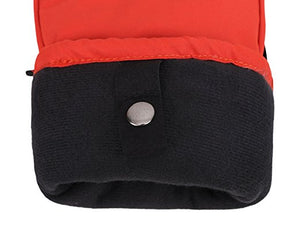 Men's Alpine Ski Mittens with Handwarmer Pocket - Orange