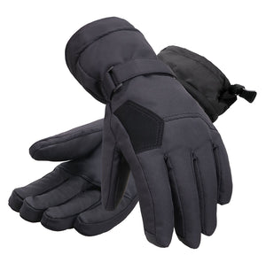 Andorra Women's Two-Tone Geometric Touchscreen Ski Glove - Black