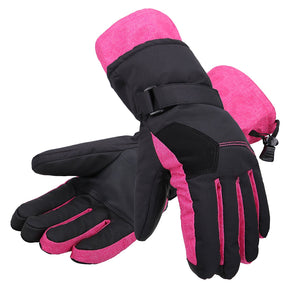 Andorra Women's Two-Tone Geometric Touchscreen Ski Glove - Pink