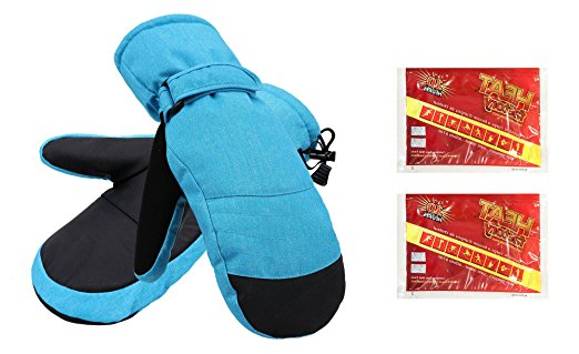 Women's Alpine Ski Mittens with Handwarmer Pocket - Royal Blue