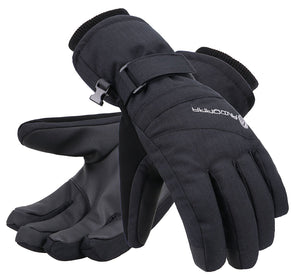 Andorra Women's Classic Zippered Pocket Touchscreen Ski Glove - Black