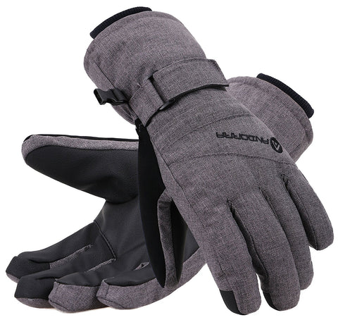 Andorra Women's Classic Zippered Pocket Touchscreen Ski Glove - Heather Grey