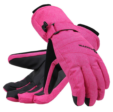 Andorra Women's Classic Zippered Pocket Touchscreen Ski Glove - Pink